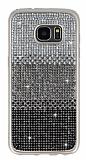 Samsung Galaxy S7 Edge Taşlı Geçişli Siyah Silikon Kılıf