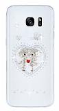 Samsung Galaxy S7 Edge Ta�l� Love �effaf Silikon K�l�f
