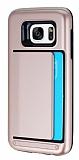 Samsung Galaxy S7 Kartlıklı Ultra Koruma Rose Gold Kılıf