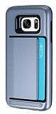 Samsung Galaxy S7 Kartlıklı Ultra Koruma Silver Kılıf