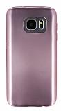 Samsung Galaxy S7 Metalik Rose Gold Silikon Kılıf
