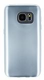 Samsung Galaxy S7 Metalik Silver Silikon Kılıf