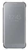 Samsung Galaxy S7 Orjinal Clear View Uyku Modlu Silver Kılıf