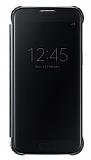 Samsung Galaxy S7 Orjinal Clear View Uyku Modlu Siyah Kılıf