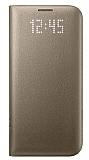 Samsung Galaxy S7 Orjinal LED Cover Gold Kılıf