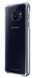 Samsung Galaxy S7 Orjinal Metalik Siyah Kenarlı Kristal Kılıf