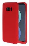 Samsung Galaxy S8 360 Derece Koruma Likit Kırmızı Silikon Kılıf