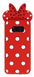 Samsung Galaxy S8 Fiyonklu Kırmızı Silikon Kılıf