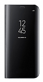 Samsung Galaxy S8 Plus Orjinal Clear View Standlı Kapaklı Siyah Kılıf