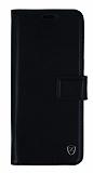 Samsung Galaxy S8 Plus Cüzdanlı Yan Kapaklı Siyah Deri Kılıf