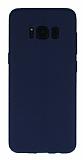 Samsung Galaxy S8 Plus Deri Desenli Ultra İnce Lacivert Silikon Kılıf