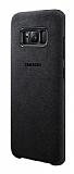 Samsung Galaxy S8 Plus Orjinal Alcantara Süet Siyah Kılıf