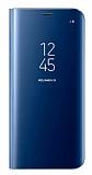 Samsung Galaxy S8 Plus Orjinal Clear View Standlı Kapaklı Mavi Kılıf