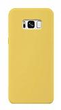 Samsung Galaxy S8 Plus Rainbow Sarı Silikon Kılıf