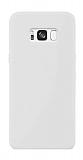 Samsung Galaxy S8 Plus Rainbow Beyaz Silikon Kılıf