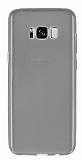 Samsung Galaxy S8 Plus Ultra İnce Şeffaf Siyah Silikon Kılıf