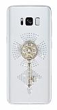 Samsung Galaxy S8 Taşlı Anahtar Şeffaf Silikon Kılıf