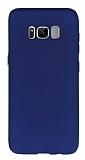 Samsung Galaxy S8 Ultra İnce Mat Lacivert Silikon Kılıf