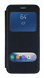 Samsung Galaxy S9 Çift Pencereli Kapaklı Siyah Kılıf