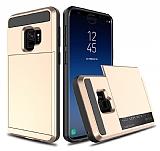 Samsung Galaxy S9 Kartlıklı Ultra Koruma Gold Kılıf