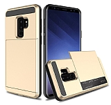 Samsung Galaxy S9 Plus Kartlıklı Ultra Koruma Gold Kılıf