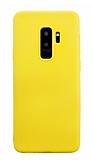Samsung Galaxy S9 Plus Rainbow Sarı Silikon Kılıf