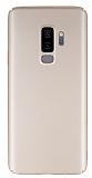 Samsung Galaxy S9 Plus Tam Kenar Koruma Gold Rubber Kılıf