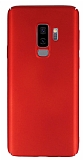 Samsung Galaxy S9 Plus Tam Kenar Koruma Kırmızı Rubber Kılıf