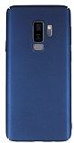 Samsung Galaxy S9 Plus Tam Kenar Koruma Lacivert Rubber Kılıf