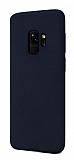 Samsung Galaxy S9 Rainbow Lacivert Silikon Kılıf