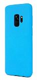 Samsung Galaxy S9 Rainbow Mavi Silikon Kılıf