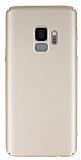 Samsung Galaxy S9 Tam Kenar Koruma Gold Rubber Kılıf