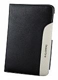 Kalaideng Samsung Galaxy Tab 3 7.0 Plume Standl� Kapakl� Siyah Deri K�l�f