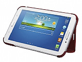 Samsung Galaxy Tab 3 7.0 Orjinal Standl� Book Cover Bordo K�l�f