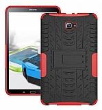 Samsung Galaxy Tab A 10.1 2016 T580 Ultra Süper Koruma Standlı Kırmızı Kılıf