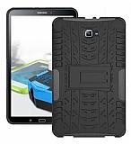 Samsung Galaxy Tab A 10.1 2016 T580 Ultra Süper Koruma Standlı Siyah Kılıf