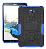 Samsung Galaxy Tab A 10.1 2016 T580 Ultra Süper Koruma Standlı Mavi Kılıf