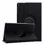 Samsung Galaxy Tab A 10.1 2019 T510 360 Derece Döner Standlı Siyah Deri Kılıf