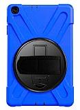 Samsung Galaxy Tab A 10.1 2019 T510 Standlı Ultra Koruma Mavi Kılıf