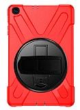 Samsung Galaxy Tab A 10.1 2019 T510 Standlı Ultra Koruma Kırmızı Kılıf