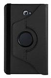 Samsung Galaxy Tab A 2016 T580 Derece Döner Standlı Siyah Deri Kılıf