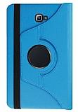 Samsung T580 Galaxy Tab A 10.1 2016 360 Derece Döner Standlı Mavi Deri Kılıf