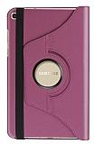 Samsung Galaxy Tab A 8.0 T290 360 Derece Döner Standlı Mor Deri Kılıf