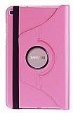 Samsung Galaxy Tab A 8.0 T290 360 Derece Döner Standlı Açık Pembe Deri Kılıf