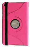 Samsung Galaxy Tab A 8.0 T290 360 Derece Döner Standlı Pembe Deri Kılıf
