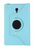 Samsung Galaxy Tab A T590 10.5 360 Derece Döner Standlı Mavi Deri Kılıf