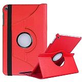 Samsung Galaxy Tab A7 Lite T225 360 Derece Döner Standlı Kırmızı Deri Kılıf