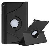 Samsung Galaxy Tab A7 Lite T225 360 Derece Döner Standlı Siyah Deri Kılıf