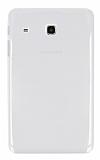 Samsung Galaxy Tab E 8.0 T377 Şeffaf Beyaz Silikon Kılıf