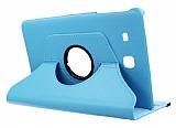 Samsung T560 Galaxy Tab E 360 Derece Döner Standlı Mavi Deri Kılıf